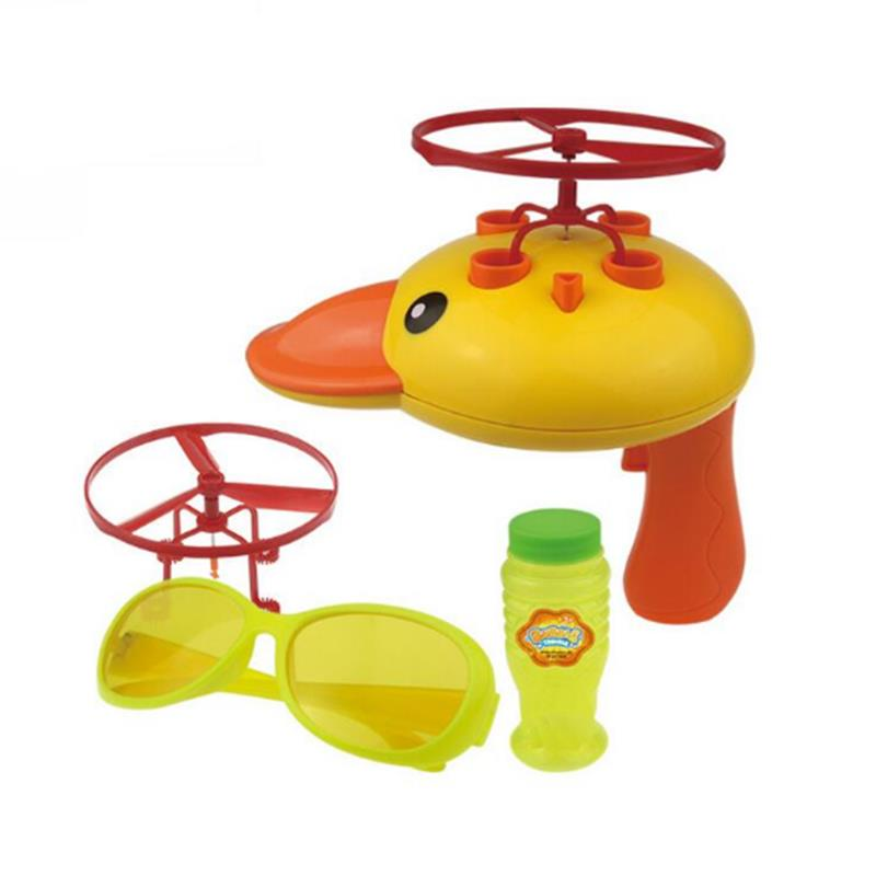 Cikoo Duck Bubbles Blow Machine UFO Gun Toy Water Summer Outdoor Toys Kids Gifts