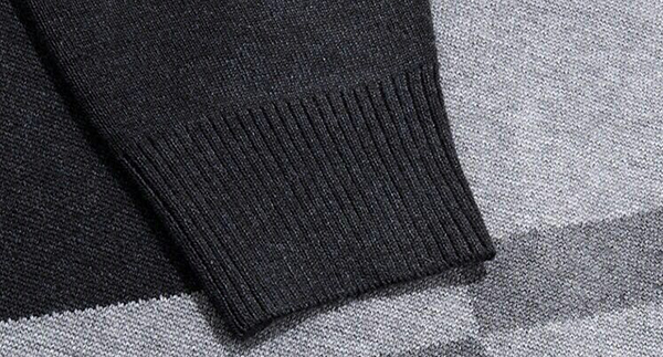 Men's Business Mature Steady Style Sweaters Thick Woollen Brocade O-neck Cardigans