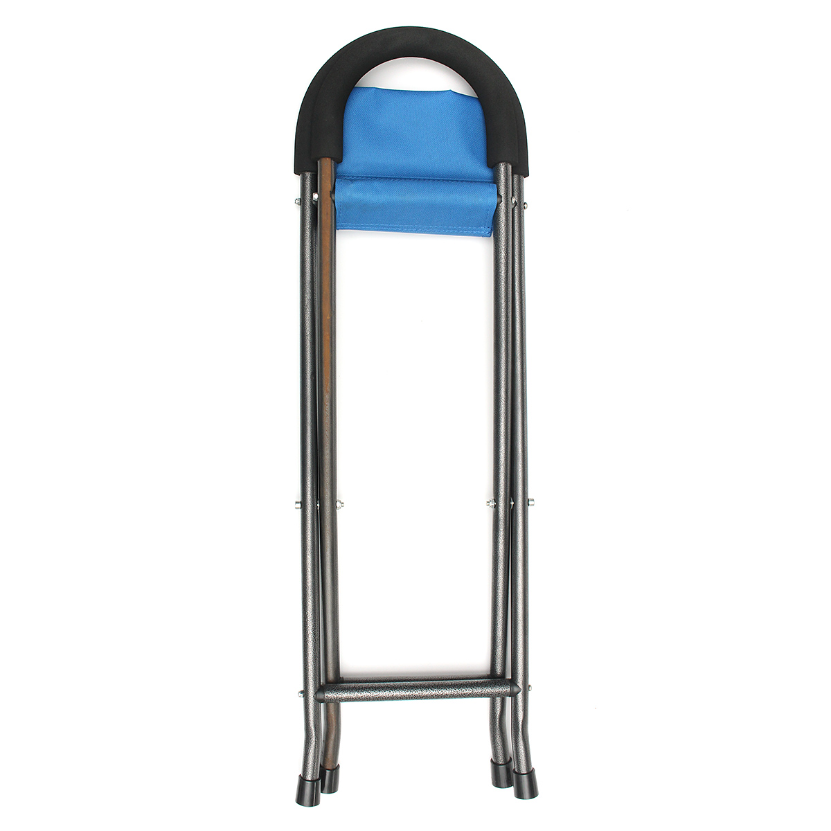 IPRee® Multi-function Folding Pyramid Walking Stick Seat Cane Camp Stool Chair Max Load 100kg