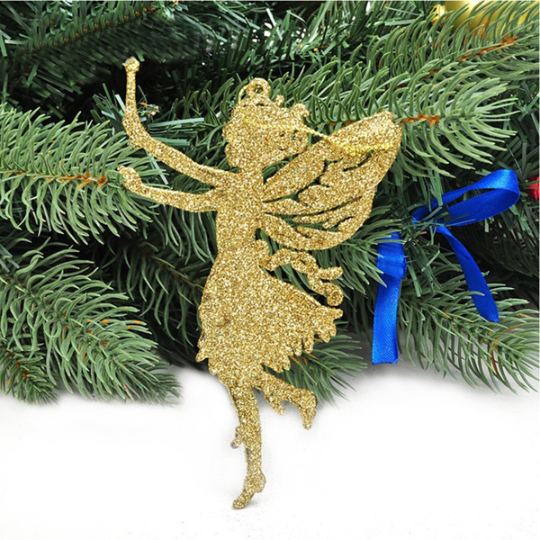 Glitter Angel Christmas Pendant Ornament Festival Party Christmas Tree Hanging Decor