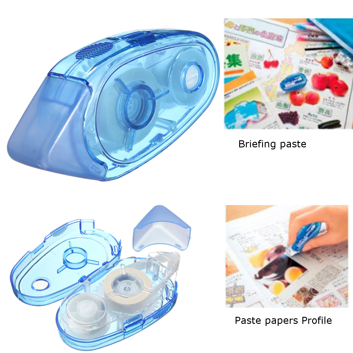 Correction Tape Glue Roller Double Sided Tape Handy Tool