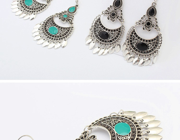 Ethnic Crescent Drop Earring Fashion Hollow Earrings Retro