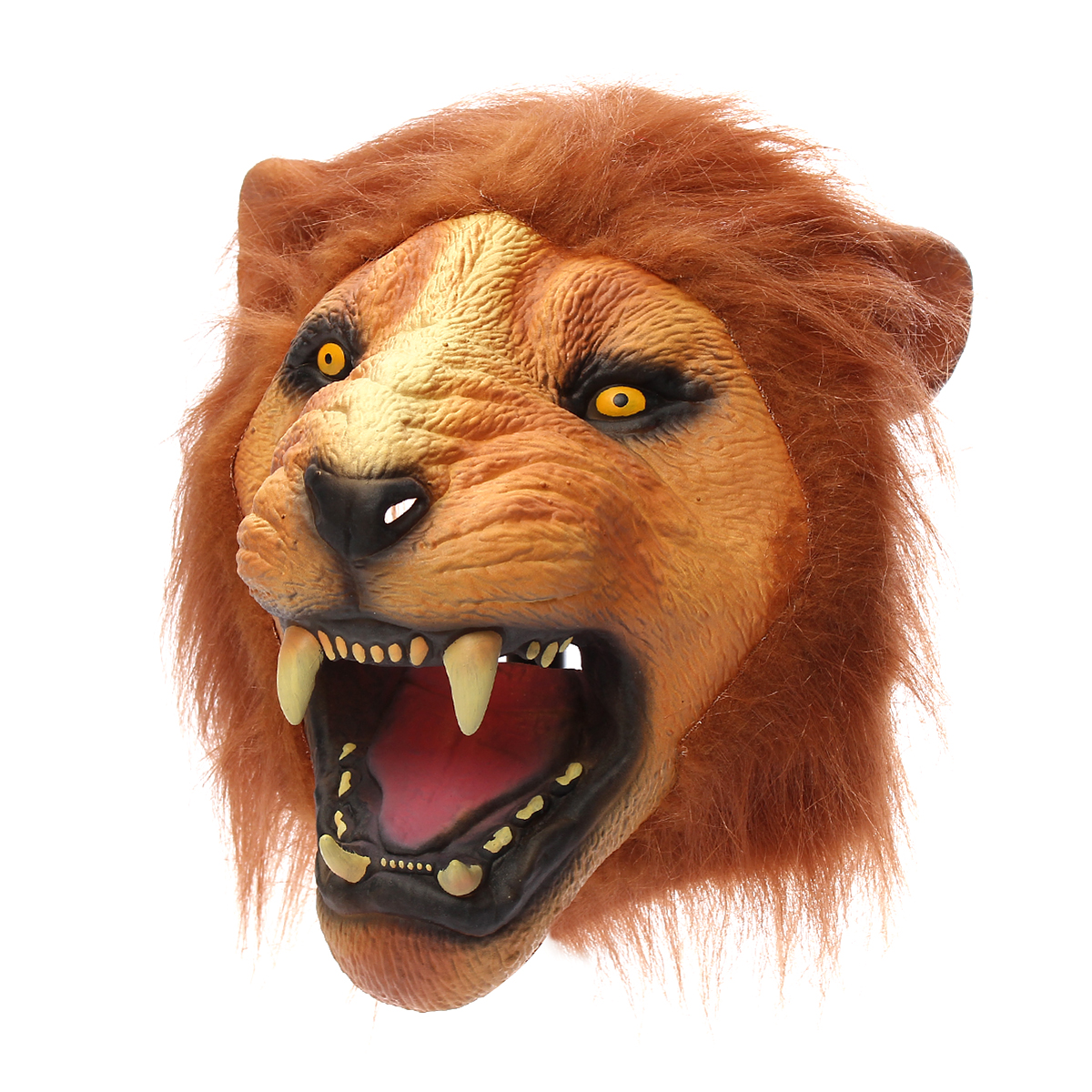 Lion Head Mask Creepy Animal Halloween Costume Theater Prop Latex Party Toy