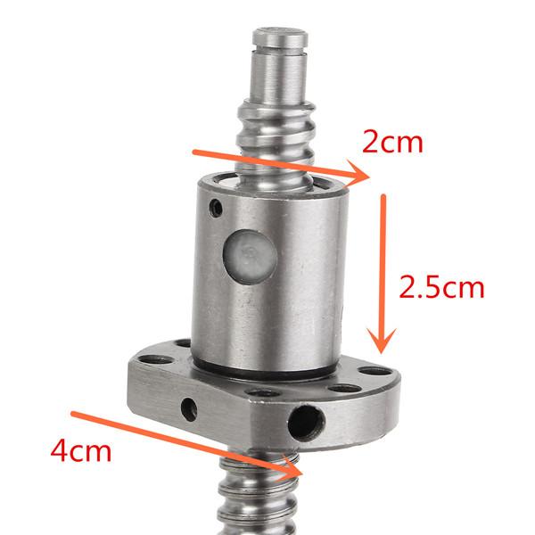 SFU1204 400mm Ball Screw With SFU1204 Single Ball Nut For BK/BF10 End Machine CNC Parts