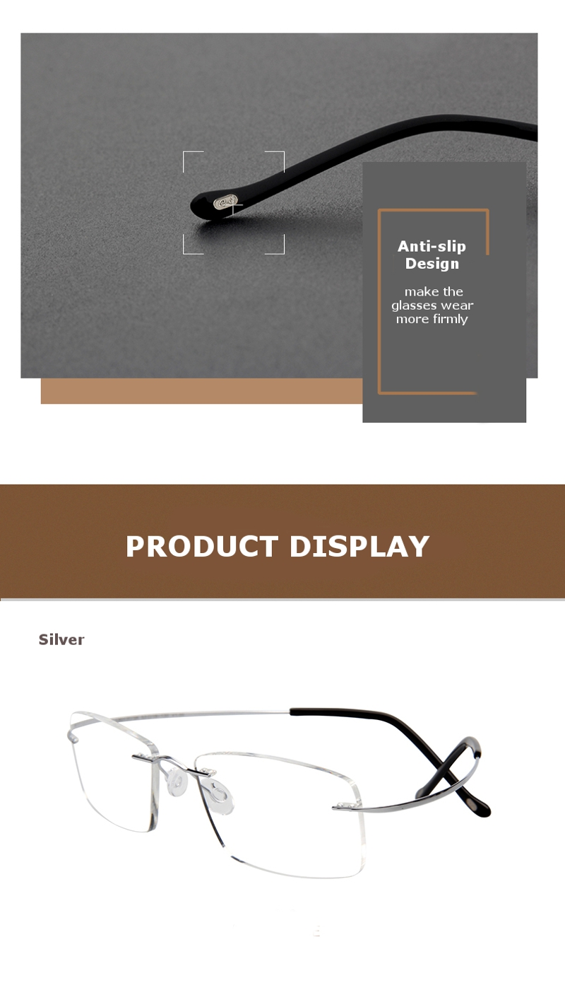 LianSan®HD Titanium Light Reading Glasses Comfortable Flexible Resin Alloy Presbyopic Glass L8013T
