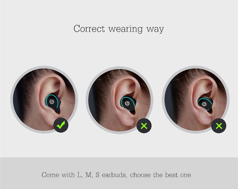 [Truly Wireless] Super Mini Lightweight Dual Bluetooth Earphones Headphones With Charging Box