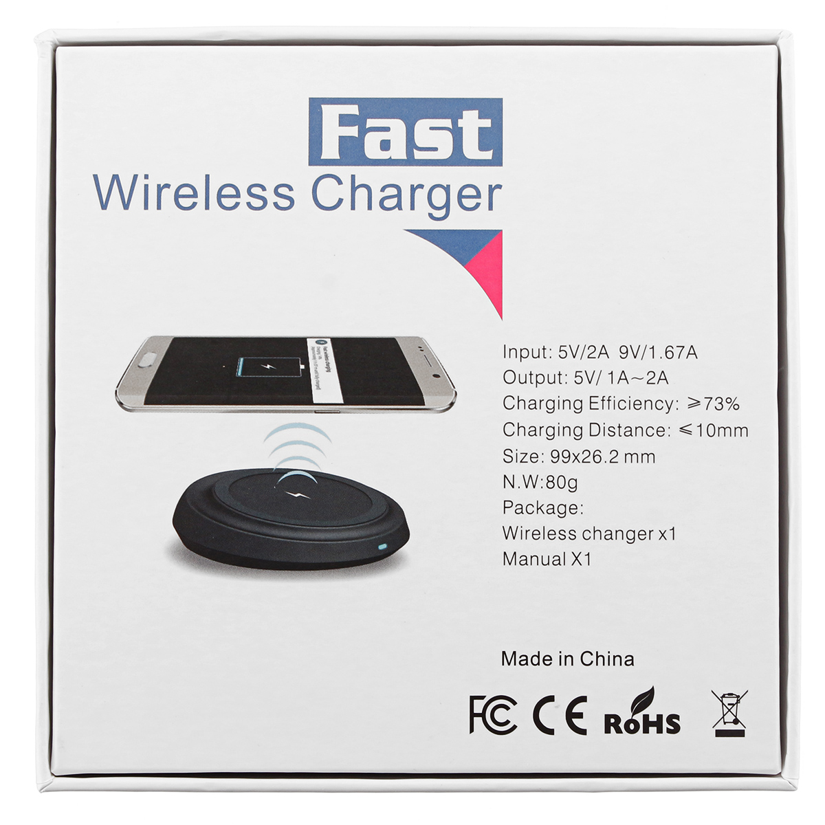 9V 15W Qi Fast Wireless Charging Fan Charger For iPhone X 8/8Plus Galaxy S8/S8 Plus S7 S6 Smart Phon