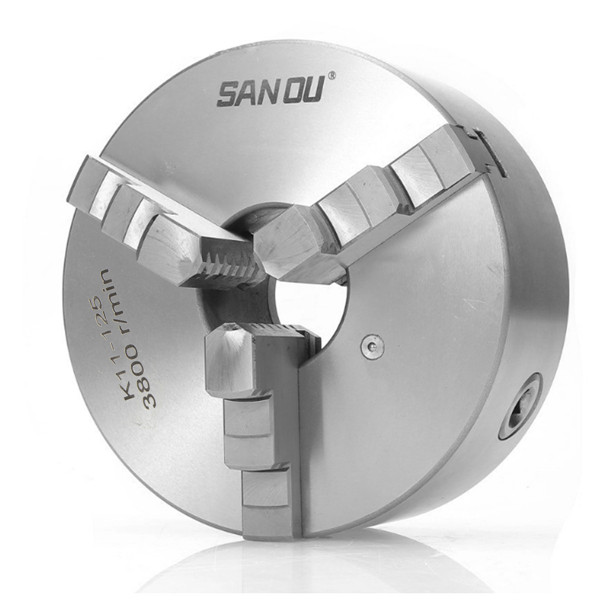 SANOU 125mm Lathe Chuck K11-125 3 Jaw Manual Chuck Self Centering Lathe Tool