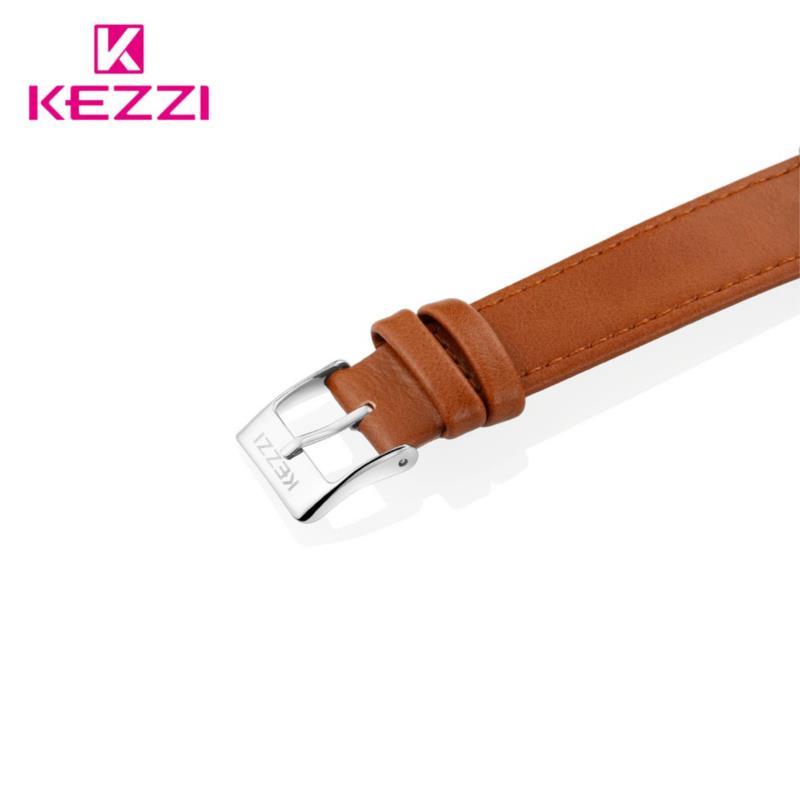 KEZZI 1712 Fashion Men Quartz Watch Casual Leather Strap Business Wrist Watch