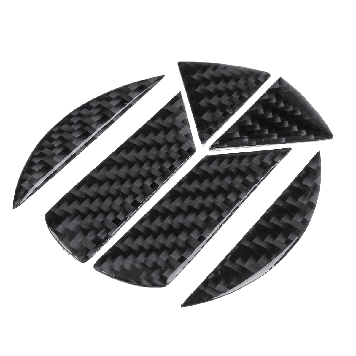 Carbon Fiber Pattern Car Tail Rear Badge Sticker Decals for Golf MK5 6 7 Magotan CC Tiguan