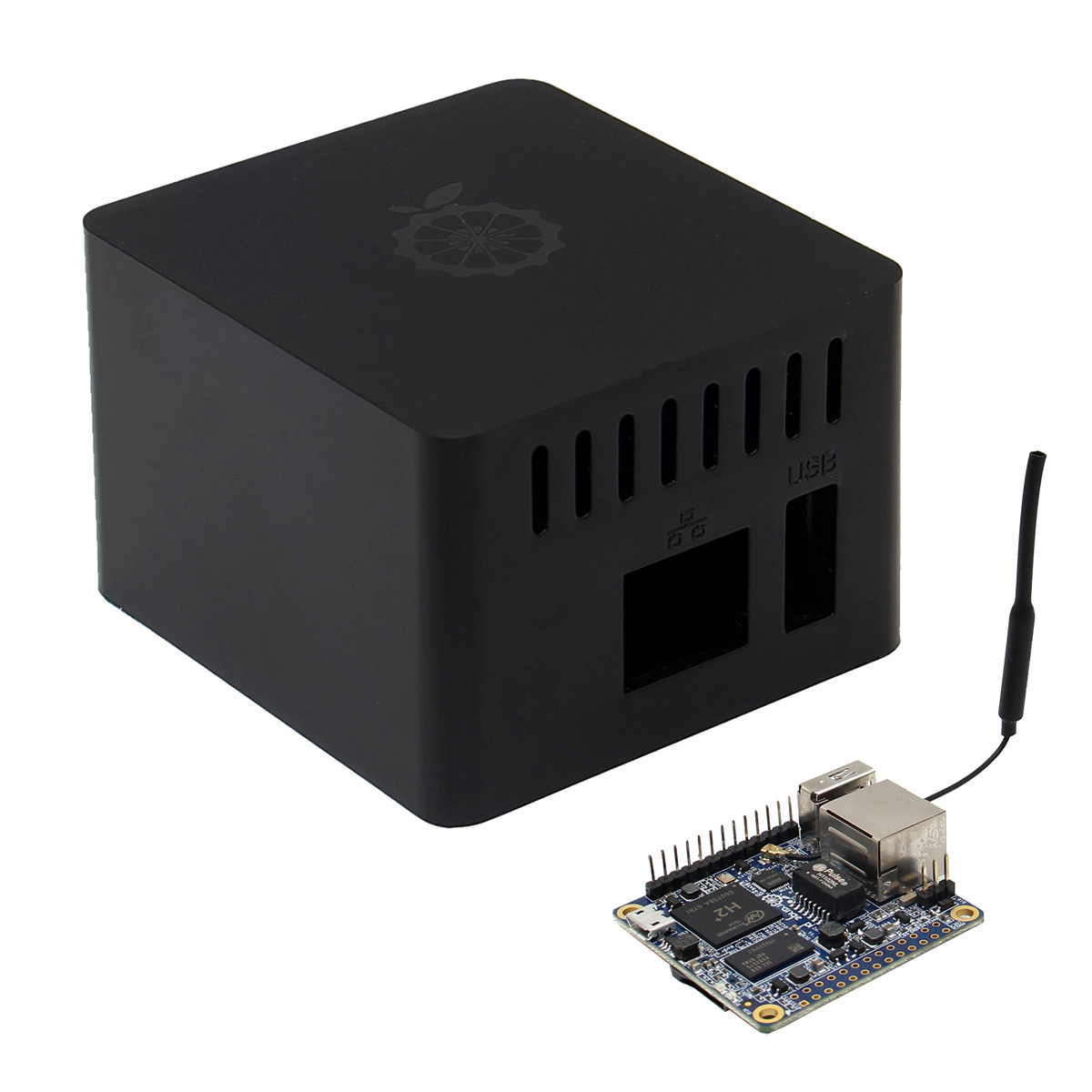 Orange Pi Black ABS Case for Orange Pi Zero Compatible With Expansion Board