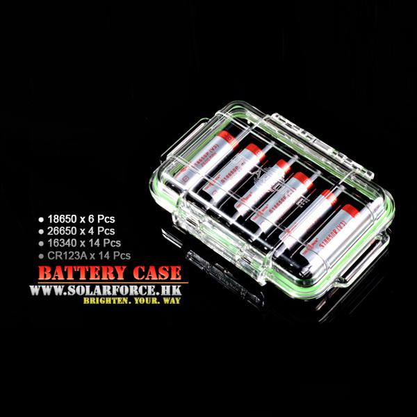 Solarforce V2 CR123A/16340/18650/26650 Transparent PC Plastic Battery Case
