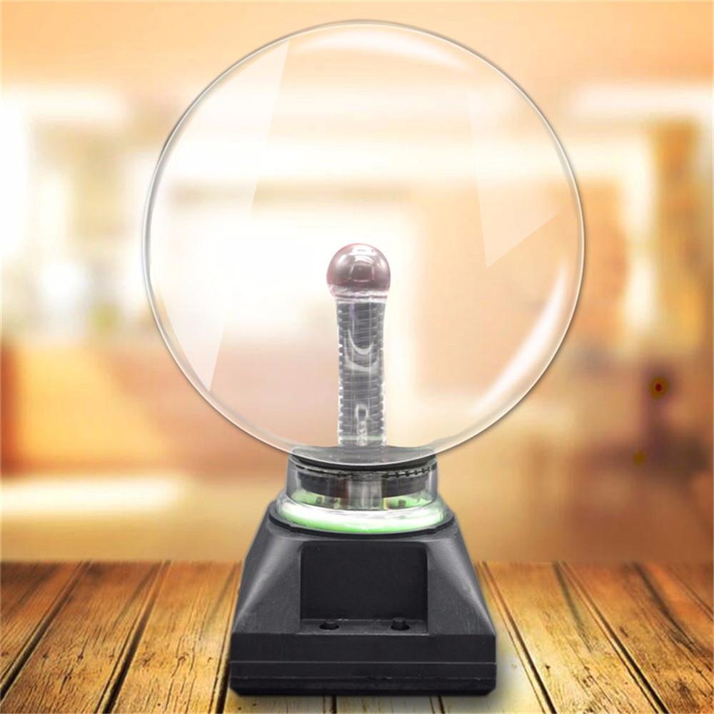 5 Inch Upgrade Plasma Ball Sphere Light Crystal Light Magic Desk Lamp Novelty Light Home Decor
