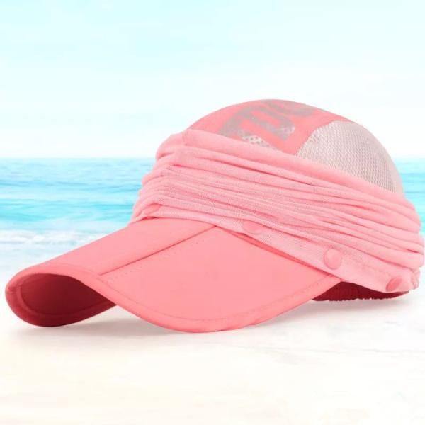 Women Foldable Breathable Face Protactive Baseball Hat Summer Quick-dry Outdoor Climbing Visor Hats