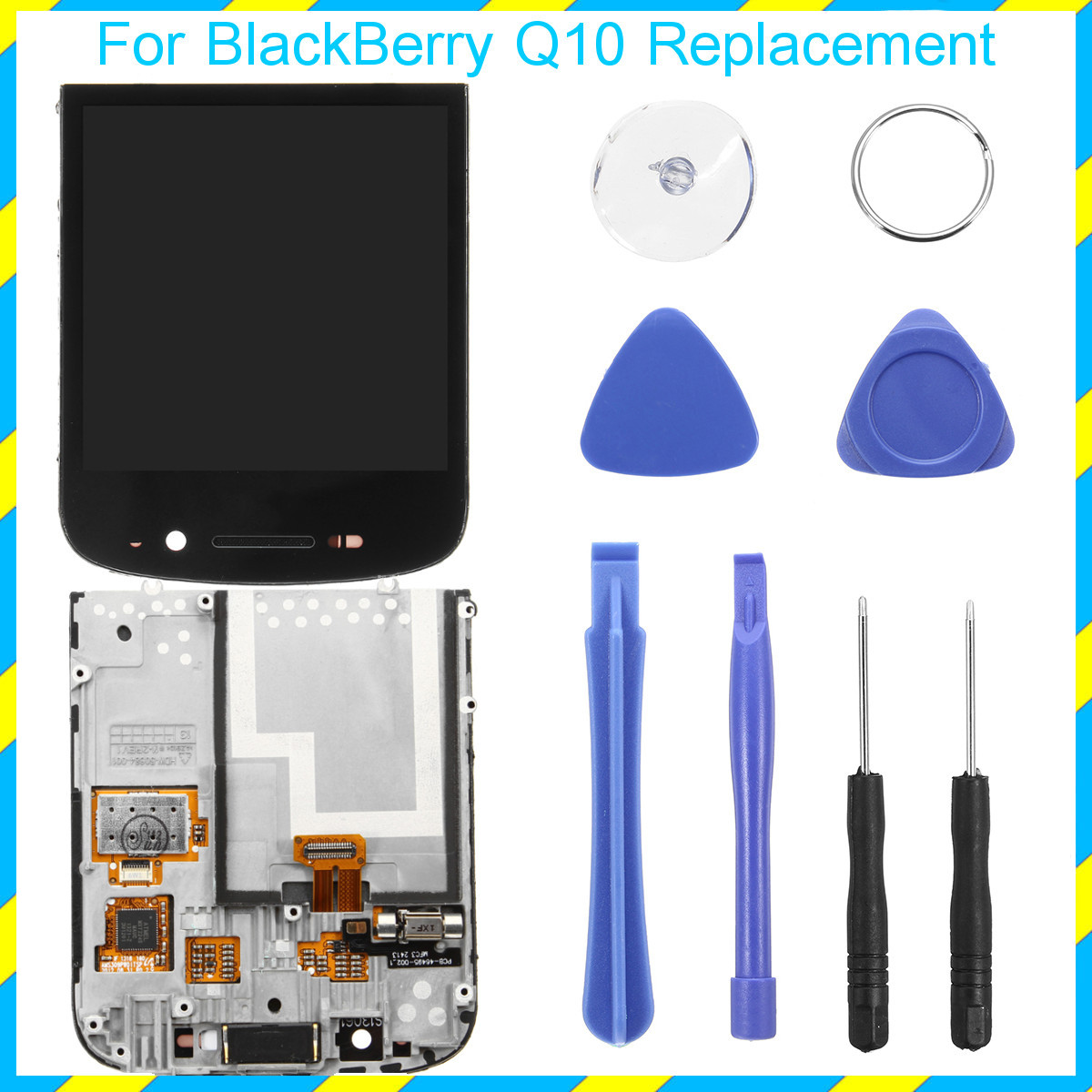LCD Display+Touch Screen Digitizer Assembly Replacement With Tools for BlackBerry Q10