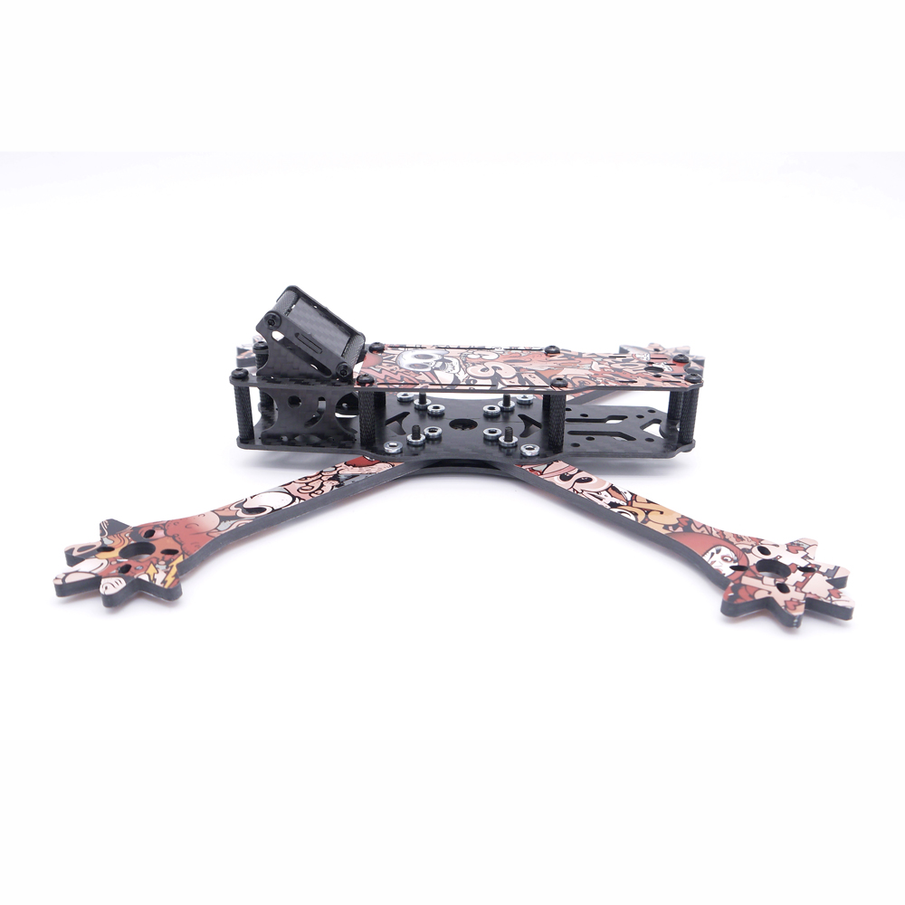Venom 5 Inch 235mm Wheelbase X Style Split 4mm Arm Frame Kit Carbon Fiber with Sticker for RC Drone FPV Racing - Photo: 4