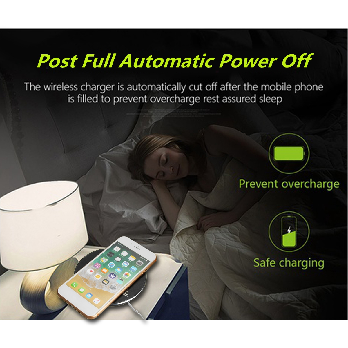 5W-10W Charging Frequency Round Wireless Fast Charger Universal Charging Power Pad for Mobile Phone