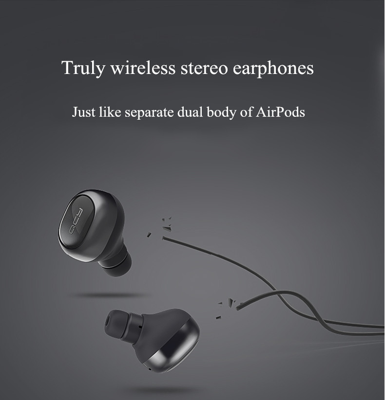 [True Wireless] Xiaomi QCY Q29 Mini Wireless bluetooth 4.1 Double Dual Headphone Earphone With Charging Box