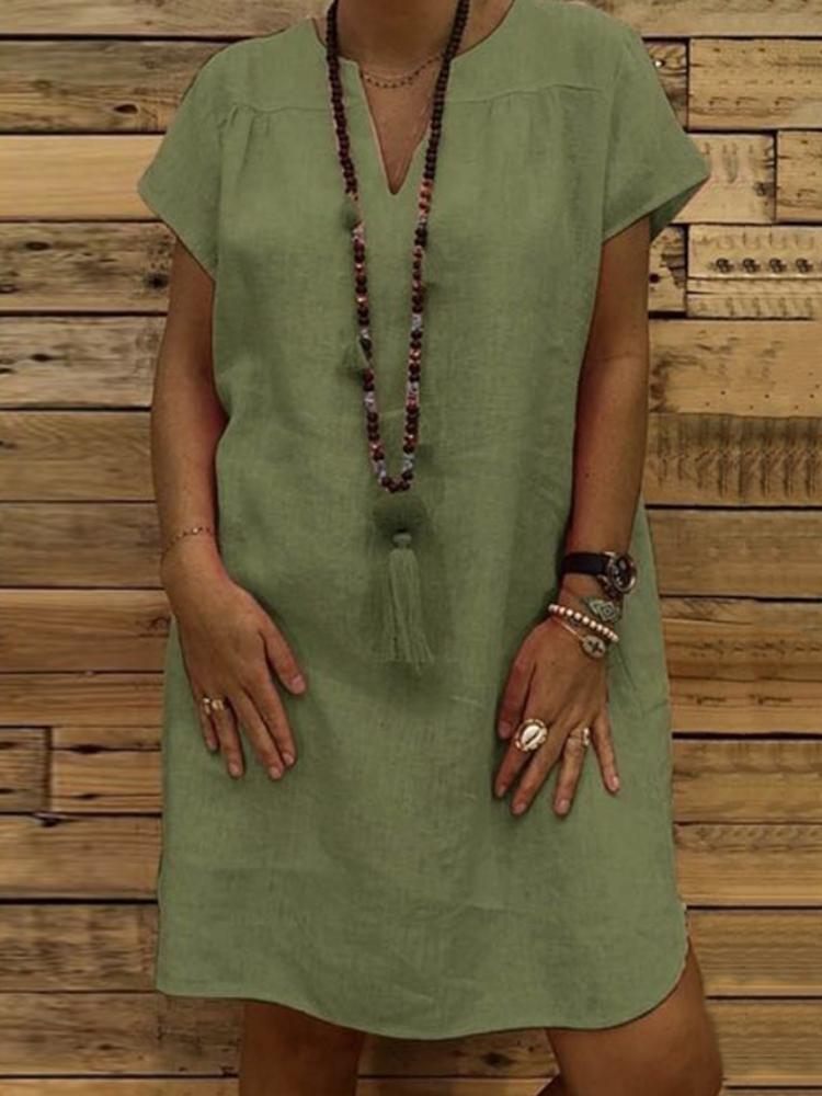 Women Casual Solid Dress