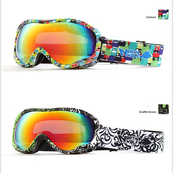 Multicolor Skiing Goggles Outdooors Sports Hiking Climbing Goggle For NORTH WOLF