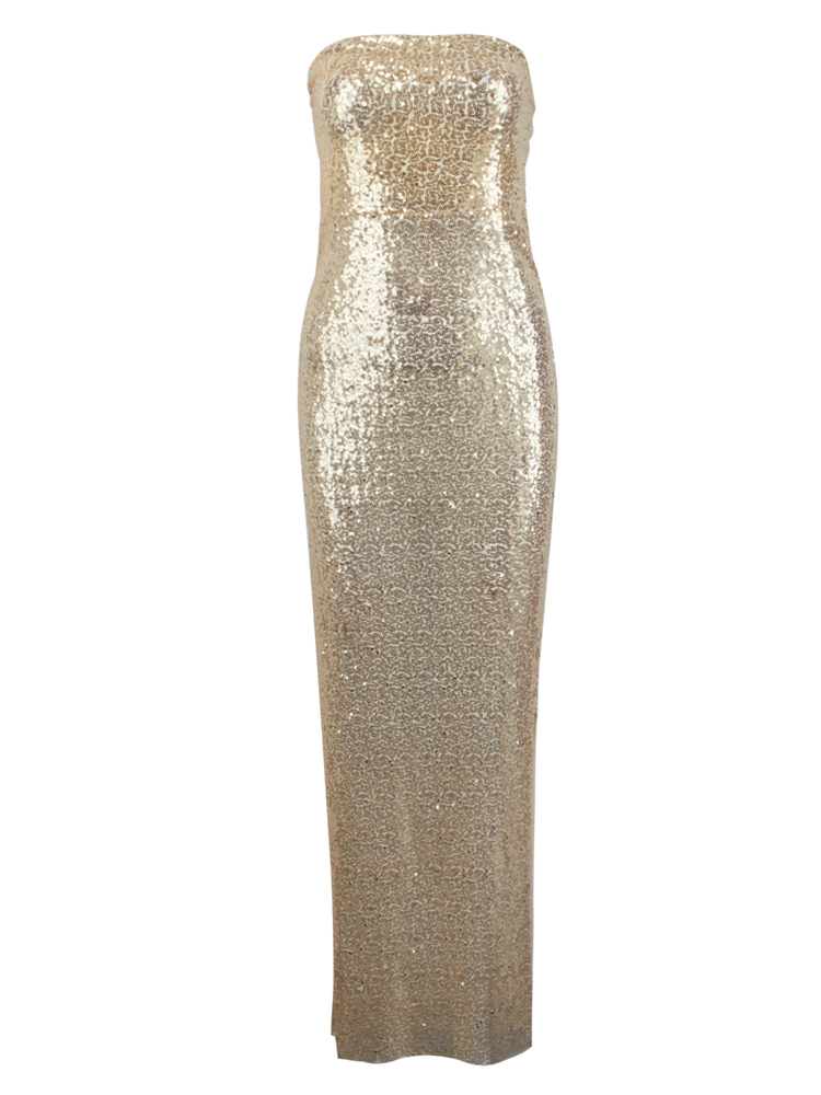 Sexy Strapless Maxi Party Dress