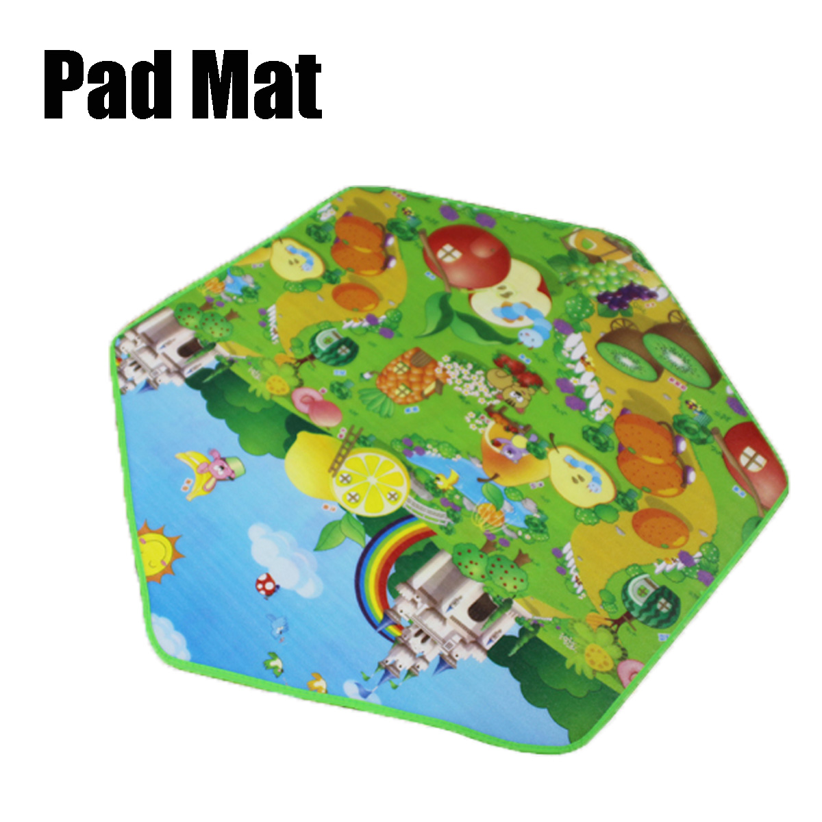 Children Kids Play House Outdoor Indoor Game Toys Tent Girls Pink Princess Castle + Pad Mat