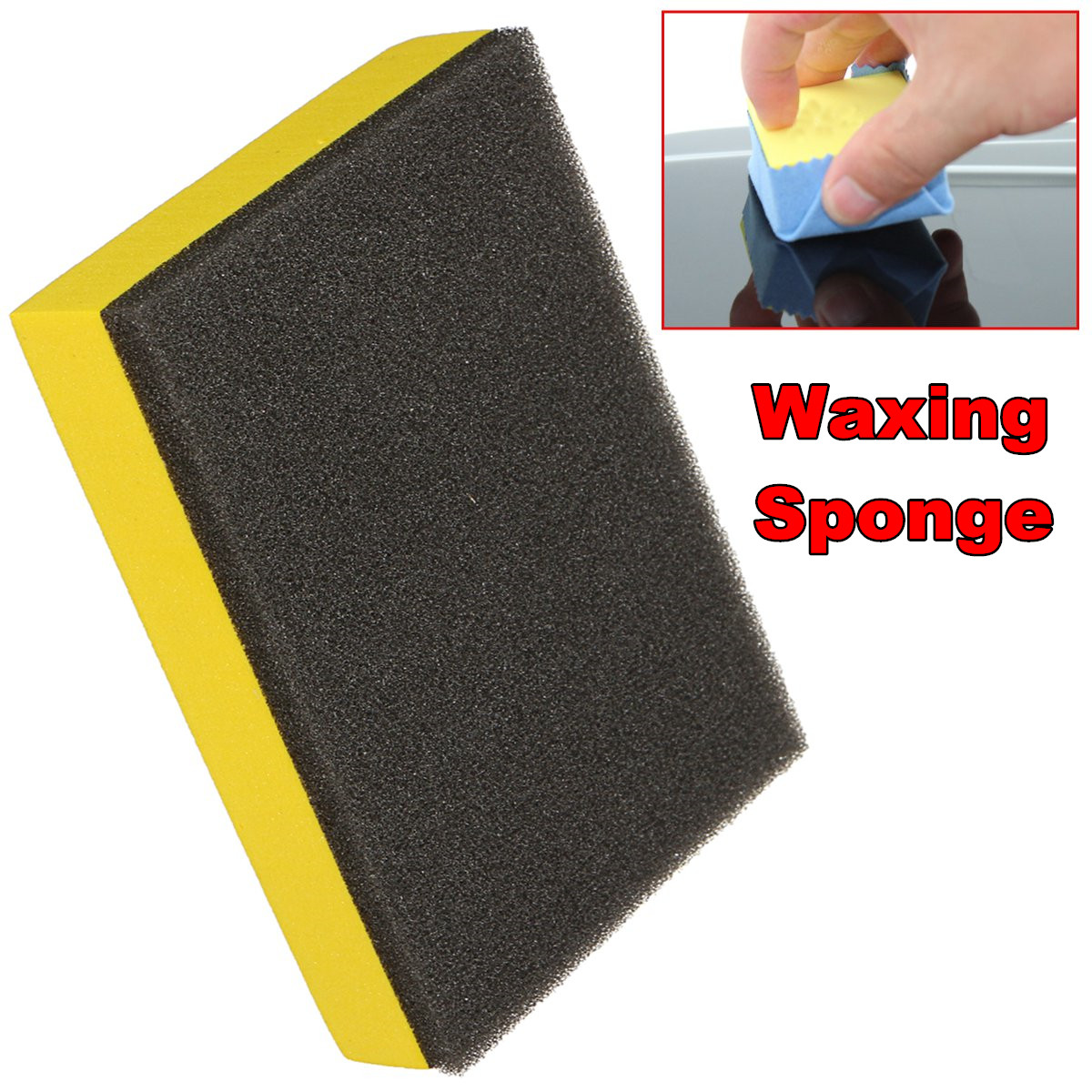 Anti Scratch Car Polish Waxing Sponge Liquid Ceramic Coat Auto Glasscoat Waxing Pad