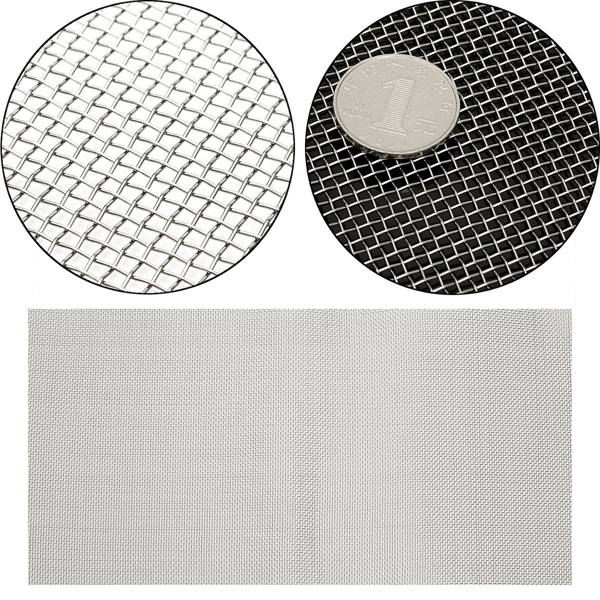 30x60cm 304 Stainless Steel 10 Mesh Filter Water Filtration Woven Wire