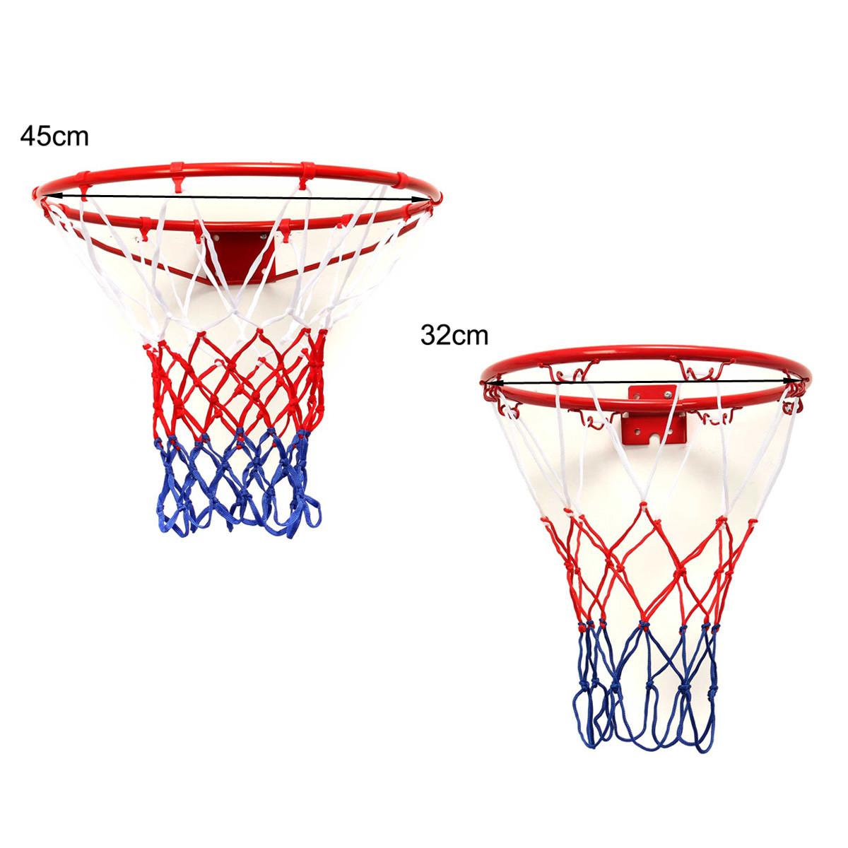 Wall Mounted Hanging Basketball Goal Hoop Rim Metal Netting