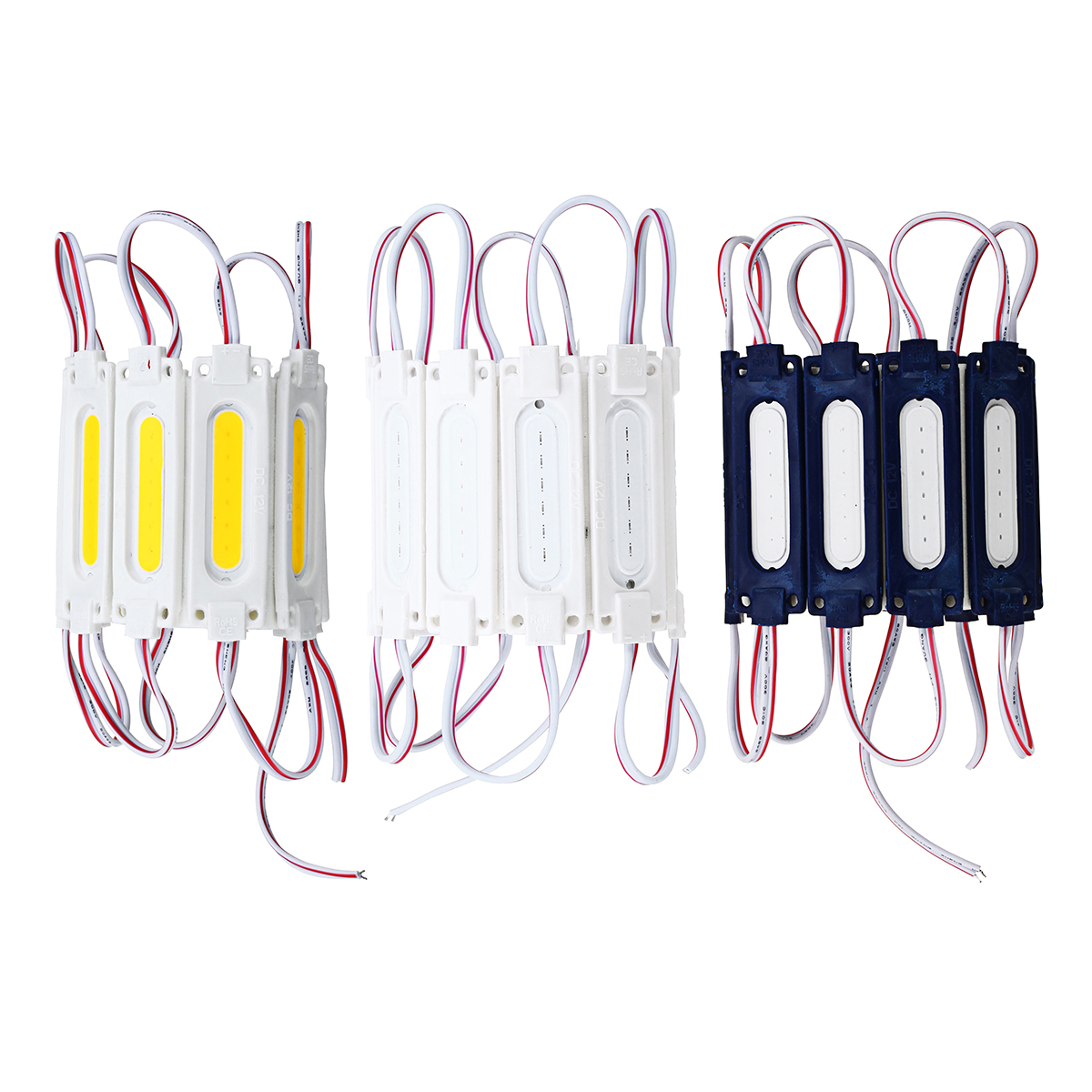 10PCS DC12V COB Warm White/Pure White/Red/Green/Blue LED Module Strip Light for Advertising Sign