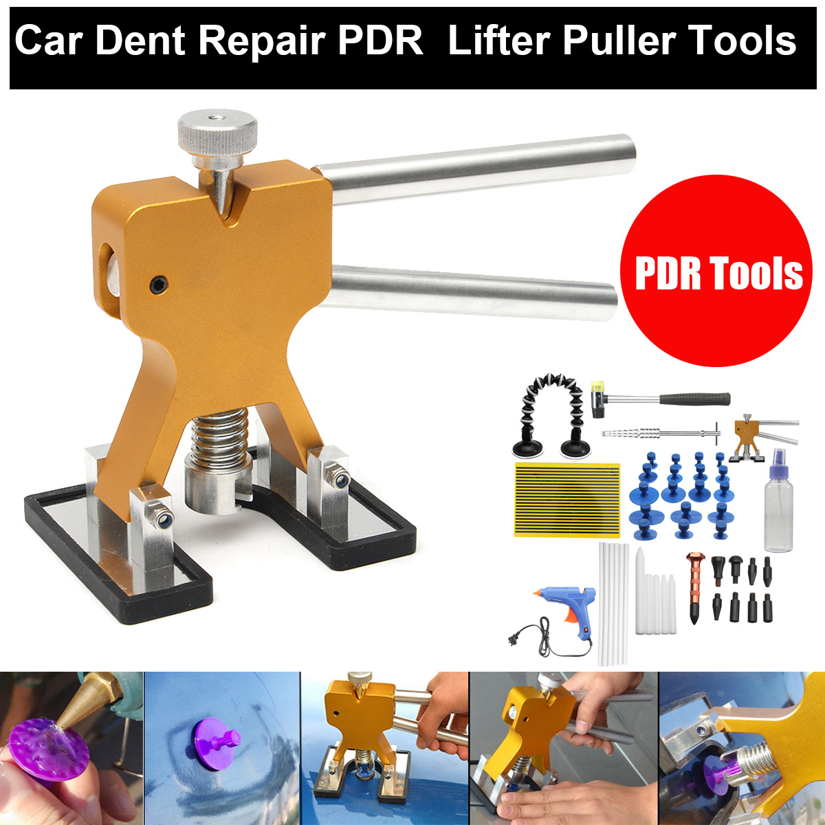51 Pcs PDR Tools Dent Puller Glue Puller Paintless Dent Removal Repair Tool