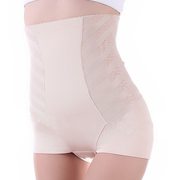 Comfy Soft Zebra Striped Belly Contol Hip Lifting High Waist Breathable Shapewear