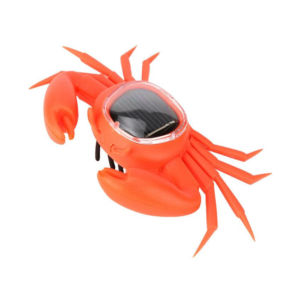 Solar Powered Toy Learning Educational Creative Mini Running Crab Animal Gift