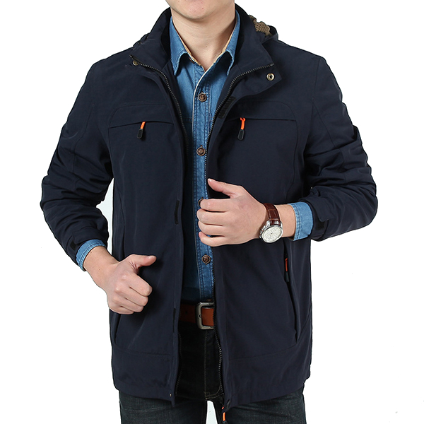 Mens Casual Outdoor Sport Hoodies Trench Coat Windproof Waterproof Coat