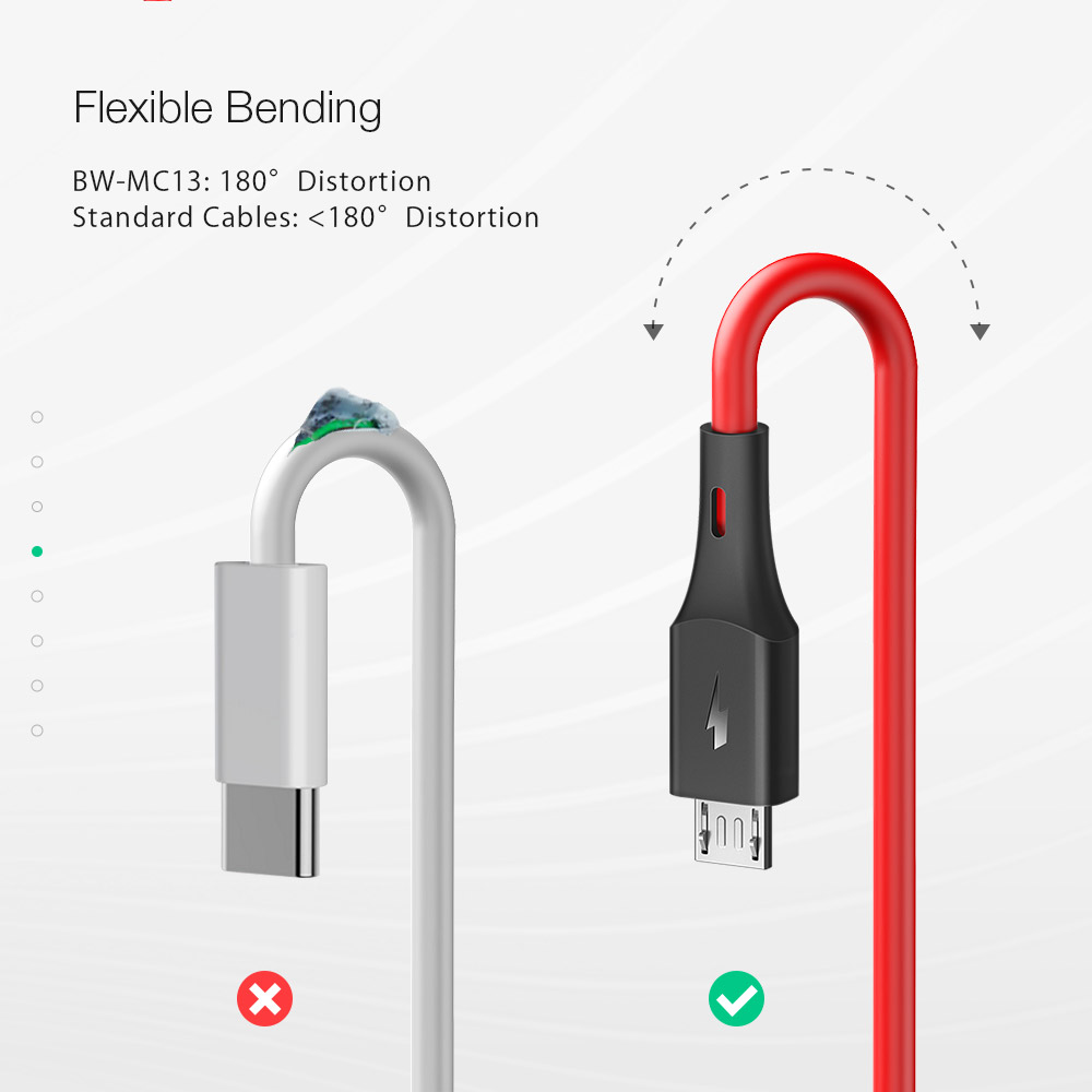 BlitzWolf® BW-MC13 Micro USB Charging Data Cable 3ft/0.91m For Samsung S7 S6 Xiaomi Redmi Note 5