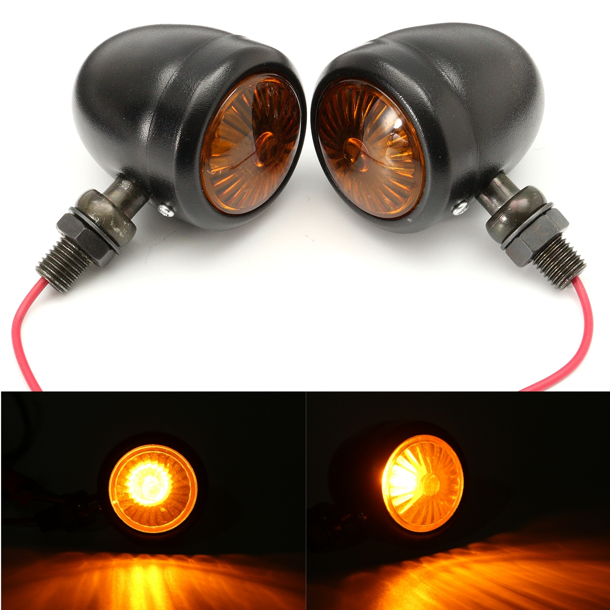 Motorcycle LED Turn Signal Indicator Light Brake Rear Running Lamp For Harley