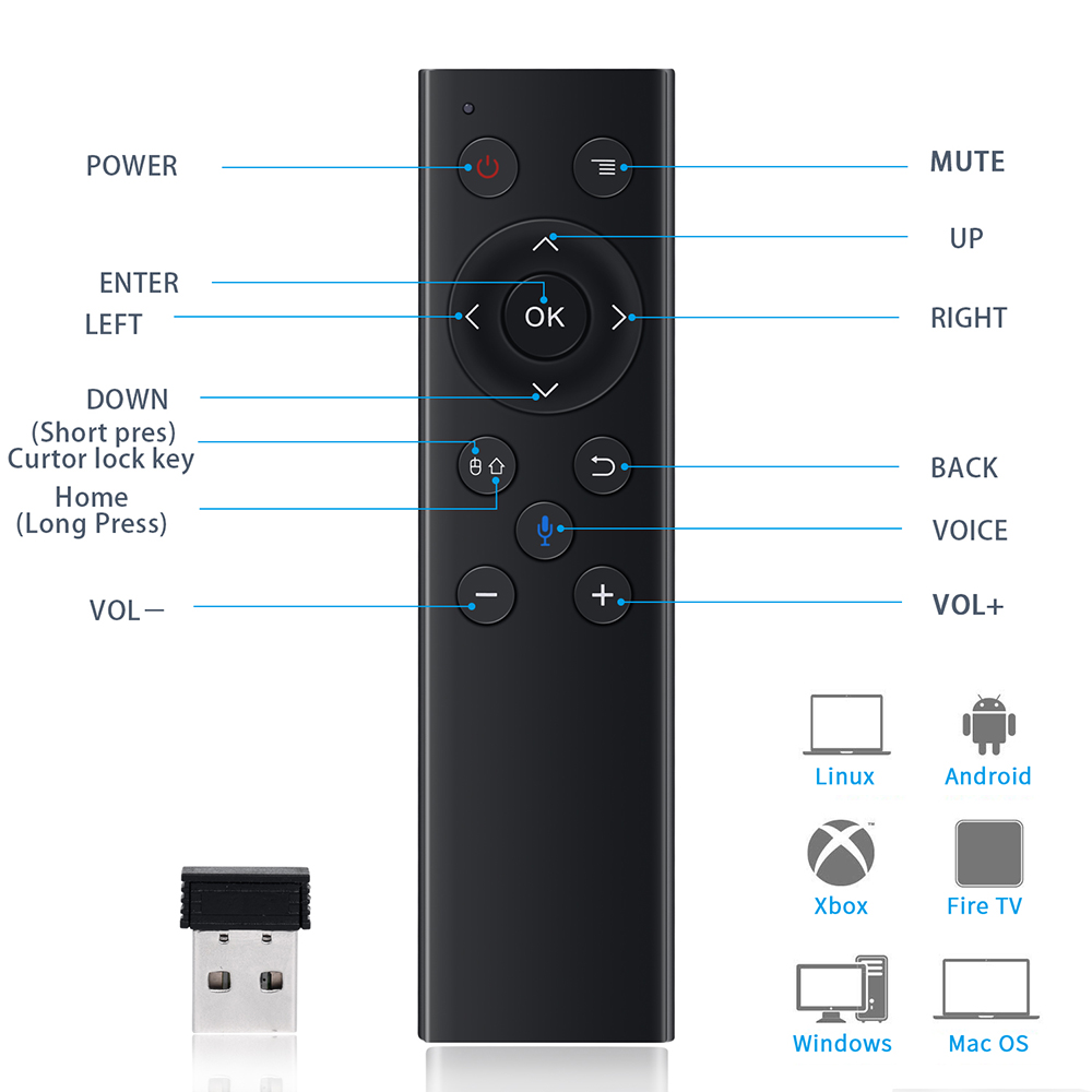 Q7 2.4G voice remote control gyroscope air mouse