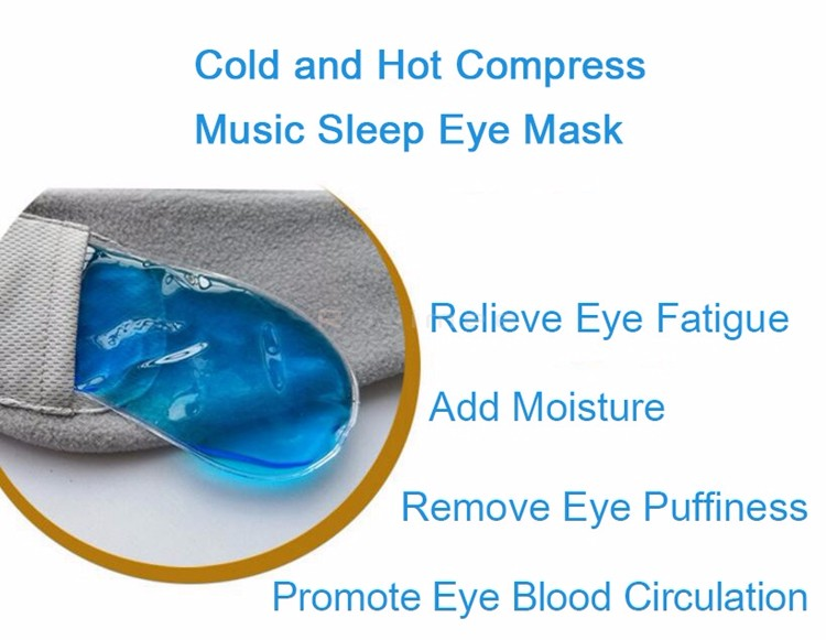 Uneed Cold Hot Amphibious Headset 3.5mm Wired Control Music Earphone Sleep Headphone Eye Mask