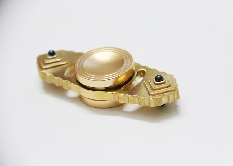 MATEMINCO EDC Brass Hand Spinner Fingertip American EDC Toys Spin Time Performance For Anti Stress
