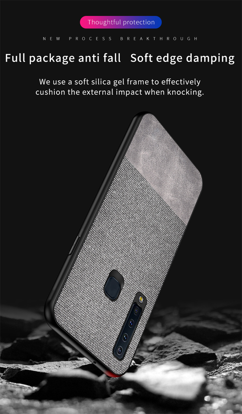 Bakeey Cloth Anti Fingerprint Protective Case For Samsung Galaxy A9 2018