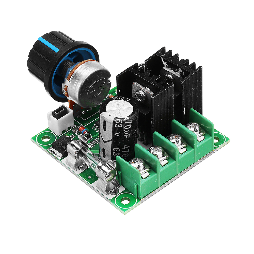 DC 9V To 50V 10A Stepless Adjustable PWM DC Motor Speed Controller Module With Knob