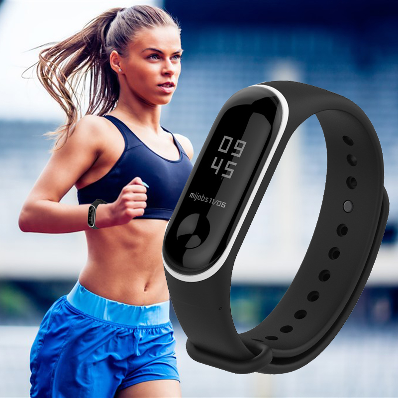 Mijobs Colorful Silicone Replacement Wristband Strap Bracelet Wristband for XIAOMI Mi Band 3