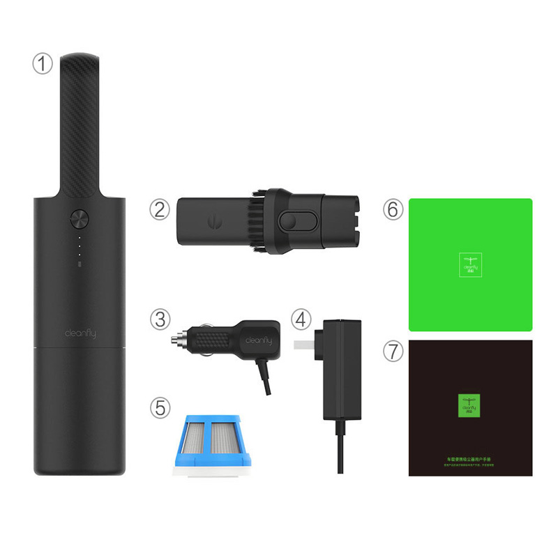 XIAOMI COCLEAN Portable Car Home Wireless Hand-Helded Strong Suction Fast Charge Car Vaccum Cleaner