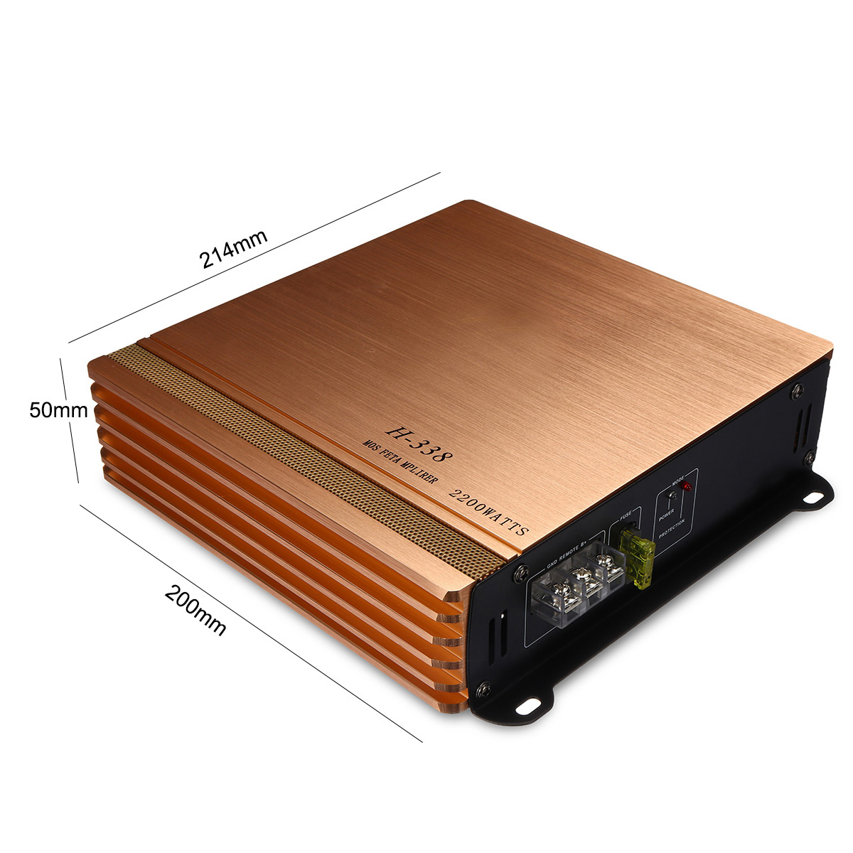 2200W 2 Channel HiFi Car Power Amplifier 360 Degree Rounded Sound