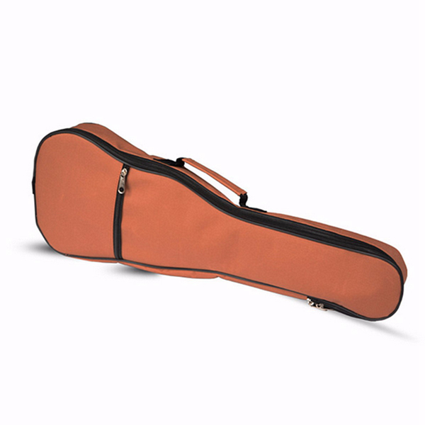 21 Inch Padded Soft Ukulele Gig Bag Orange Portable Guitar Shoulder Bag
