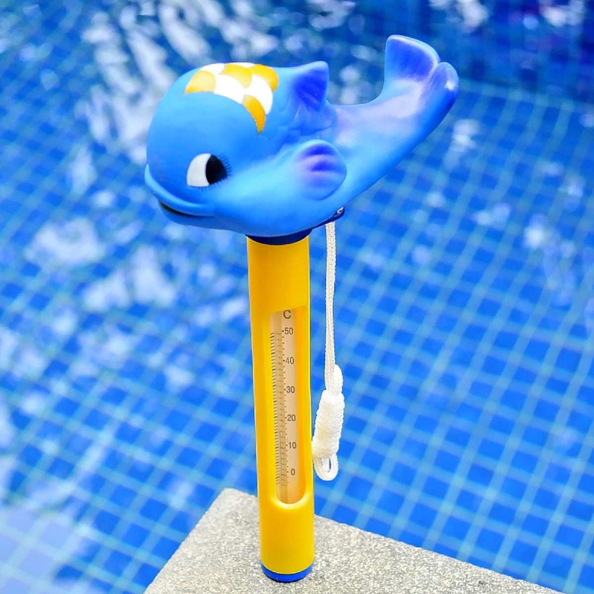 Carton Animal Baby Bath Swimming Pool Spa Floating Tub Thermometer Water Temperature Meter