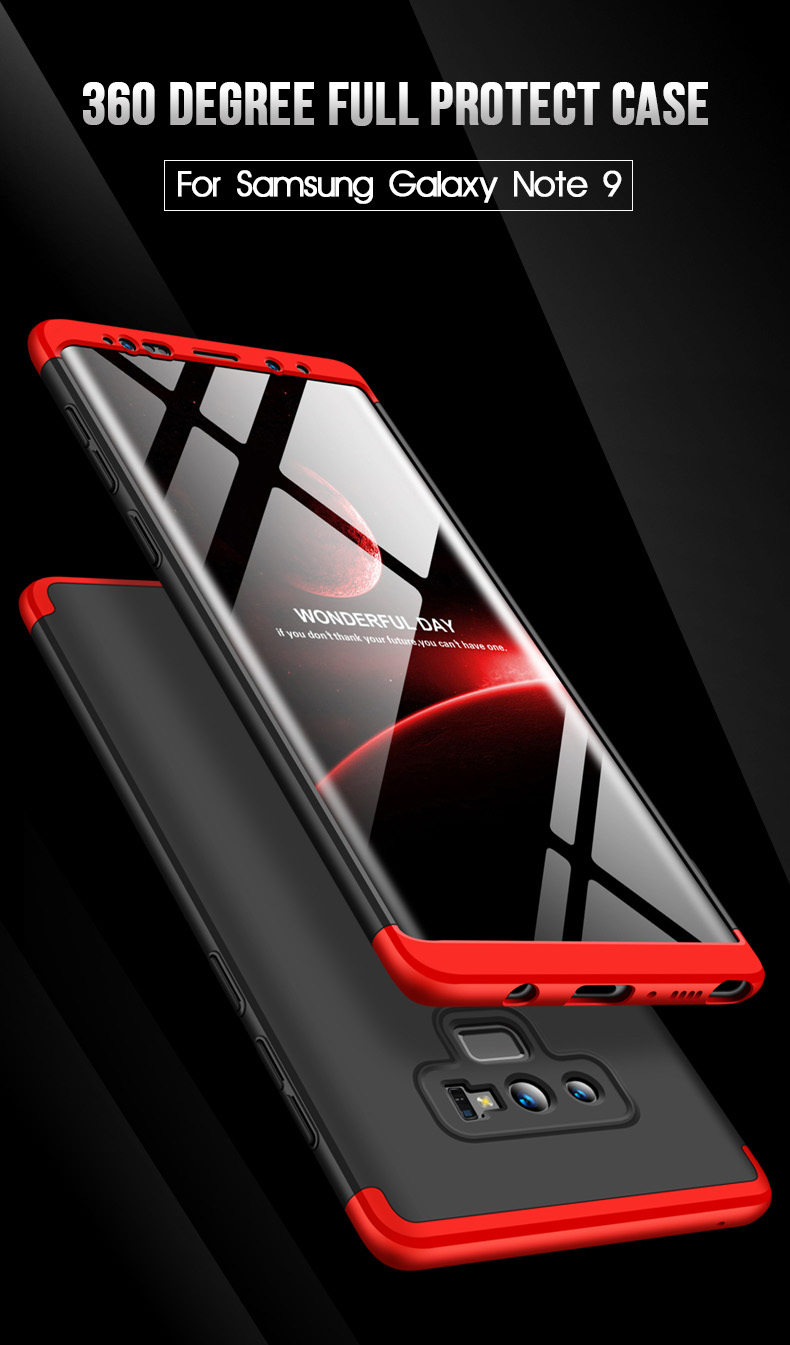 Bakeey™ 3 in 1 Double Dip 360° Hard PC Protective Case for Samsung Galaxy Note 9