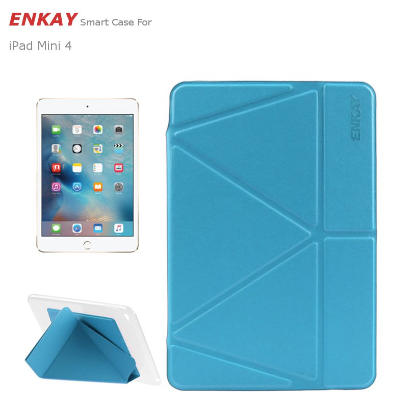 ENKAY PU+TPU Smart Protection Of Transformers With Support Cases For iPad Mini 4