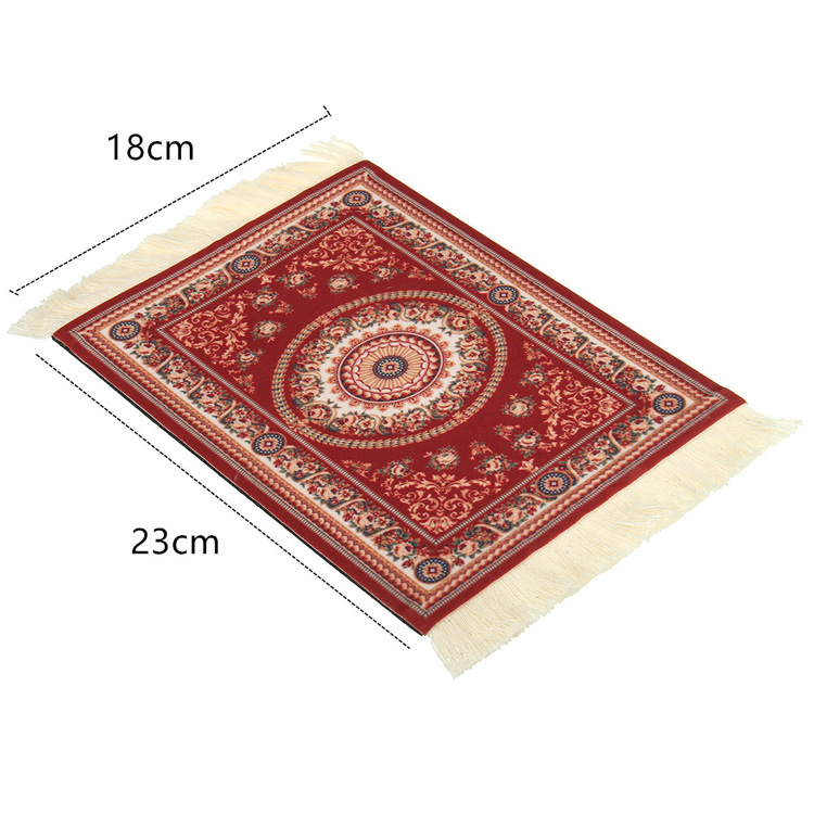 28x18cm Concentric Circle Bohemia Style Persian Rug Mouse Pad For Desktop PC Laptop Computer