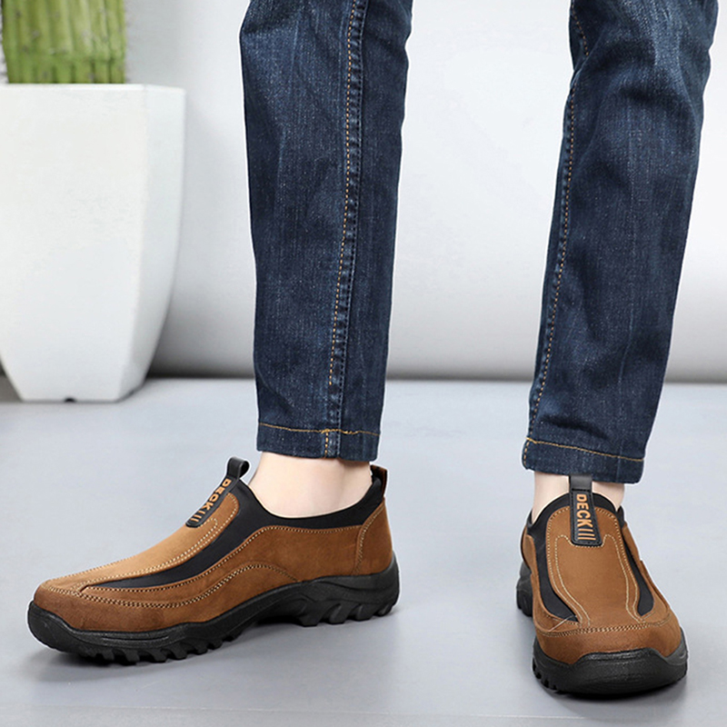 Men Soft Canvas Outdoor Loafers